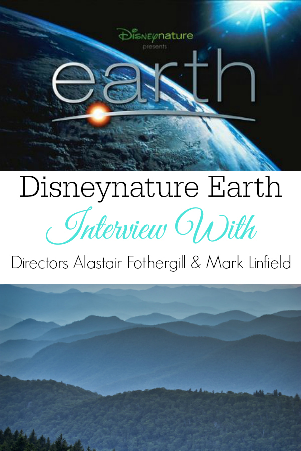 Disneynature Earth logo and mountain range