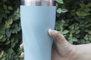 blue insulated mug