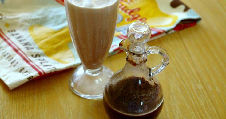 chocolate syrup and chocolate milk