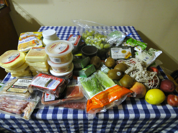 groceries on table