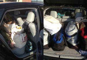 car full of groceries