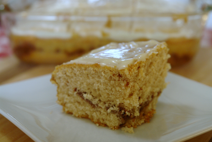 Quick and easy cinnamon coffee cake, great for holiday breakfasts, thanksgiving breakfast, christmas breakfast, make ahead breakfast