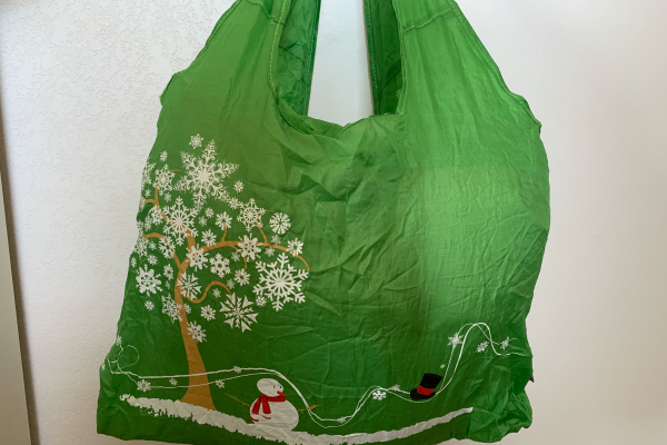 Green Christmas reusable bag