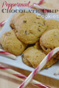 Need an easy and delicious cookie recipe? Try these peppermint chocolate chip cookies.