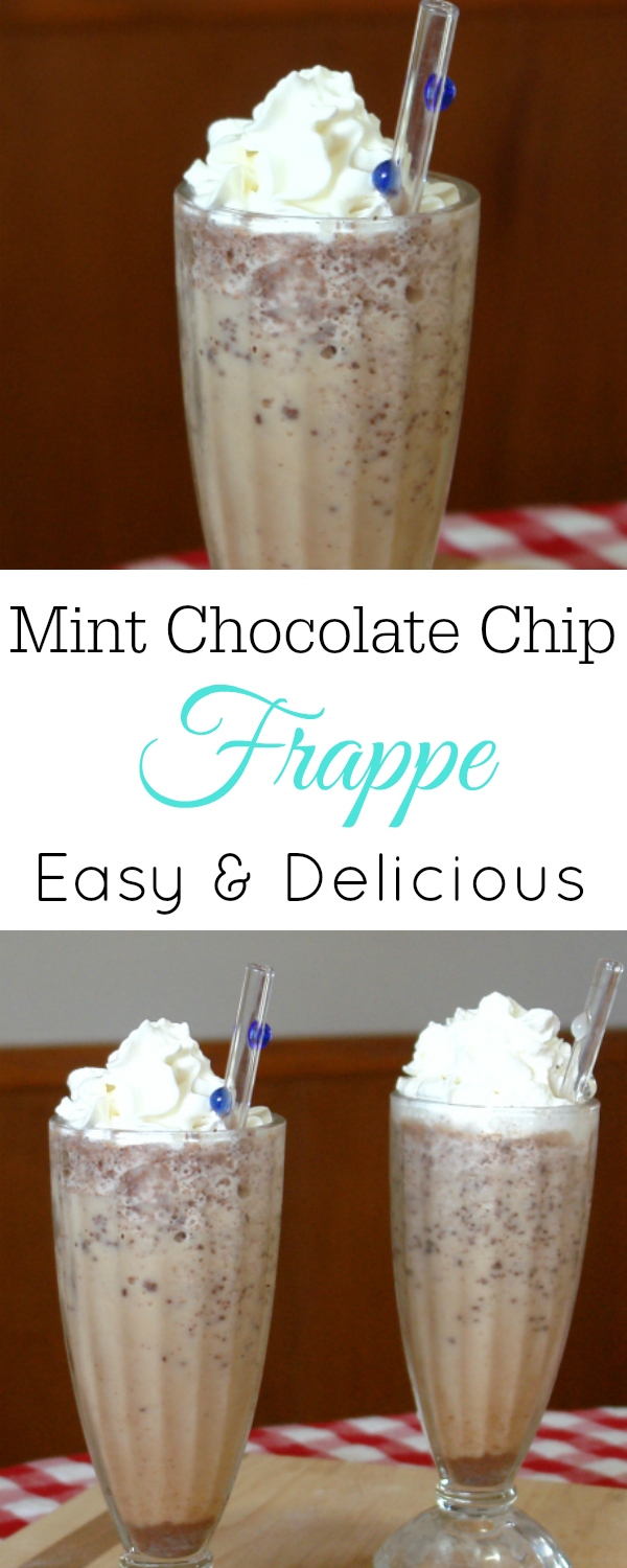 Mint Chocolate Chip Frappe, Blended Coffee #coffee #frappe