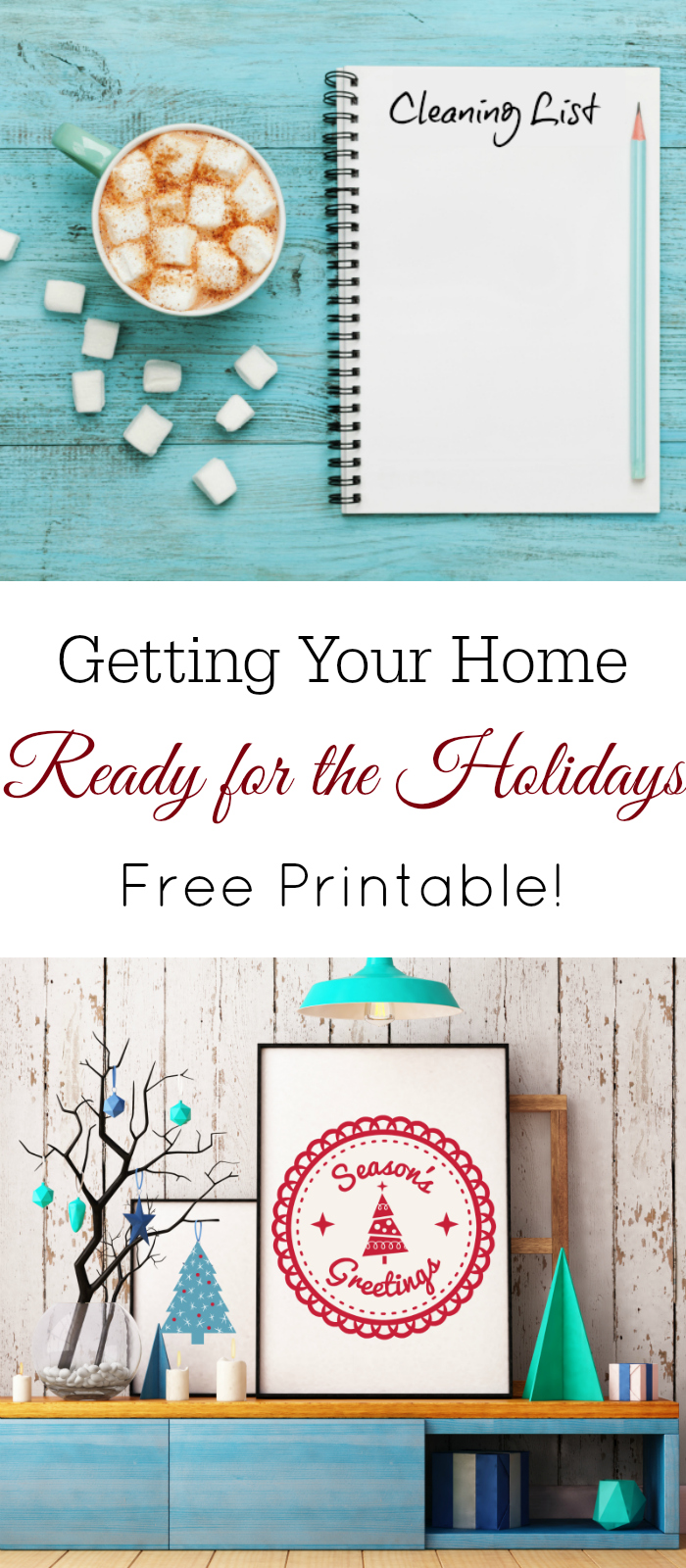 Get your home ready for the holidays, christmas cleaning, free printable