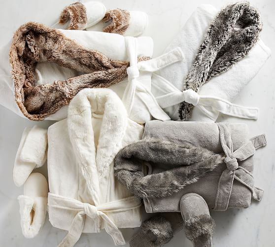 faux fur robes