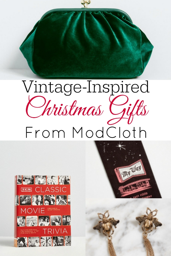 collage of ModCloth christmas gifts