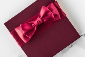 gift box on marble background