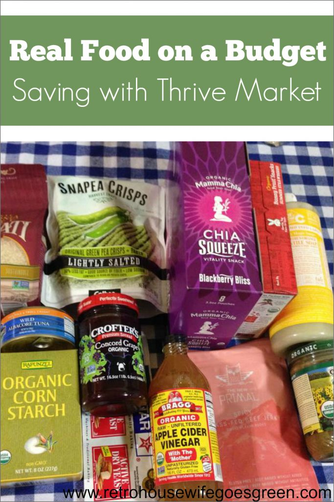 Real Food on a Budget- Saving with Thrive Market