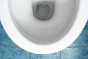 White ceramics toilet