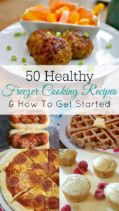 Intro to Freezer Cooking and 50 Healthy Freezer Meal Recipes