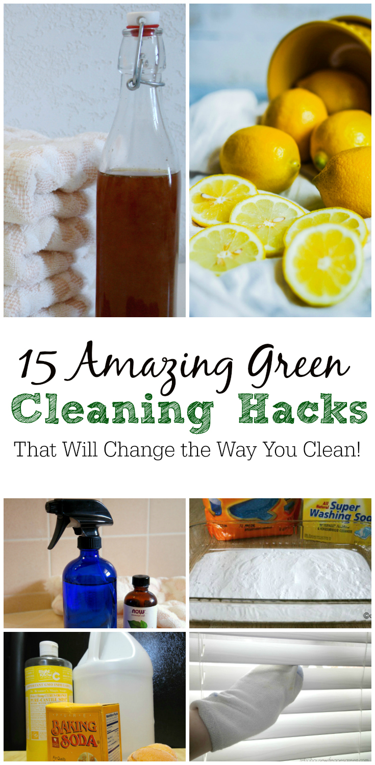 Cleaning with natural products is the way to go. And these green cleaning hacks will change the way you clean!