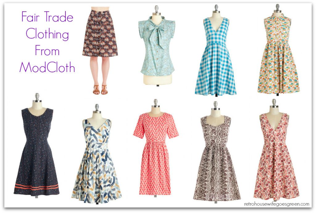 fair trade clothing from modcloth retro goes green
