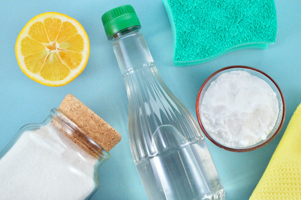 eco-friendly cleaners on table