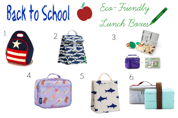 collage of lunch boxes