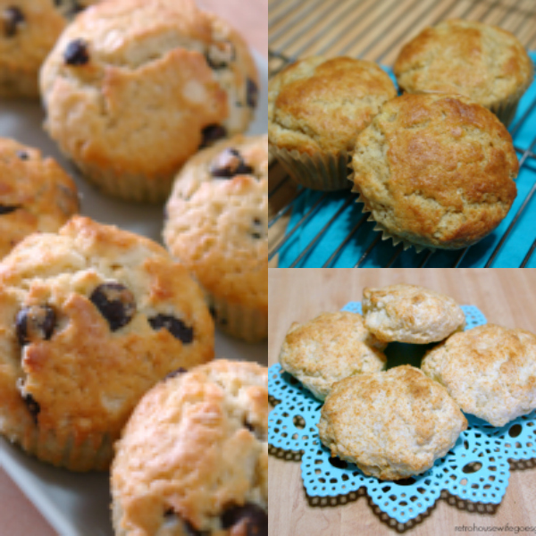 collage of recipes using homemade baking mix