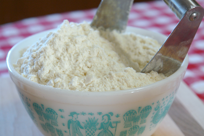 Homemade baking mix, homemade bisquick, diy bisquick, bisquick without shortening, baking mix with butter