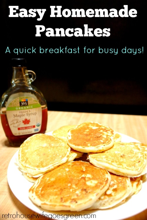 These pancakes are light and fluffy and very easy to make!
