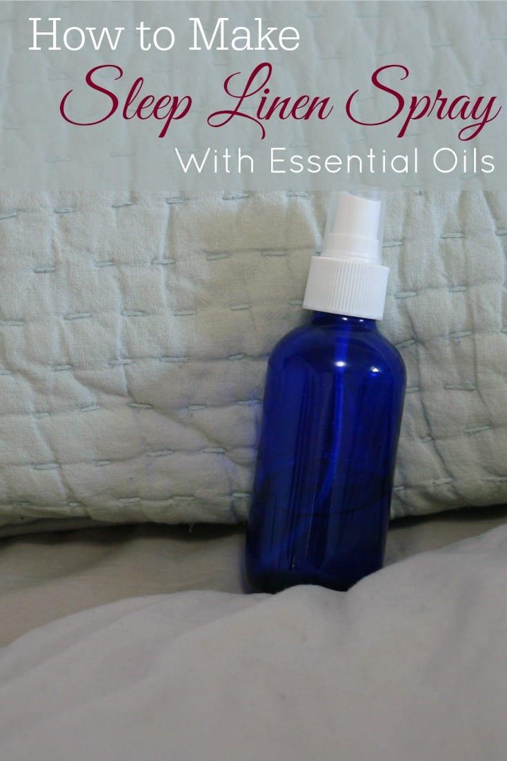 blue spray bottle on bed