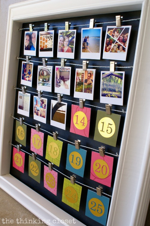 Instagram Advent Calendar in picture frame