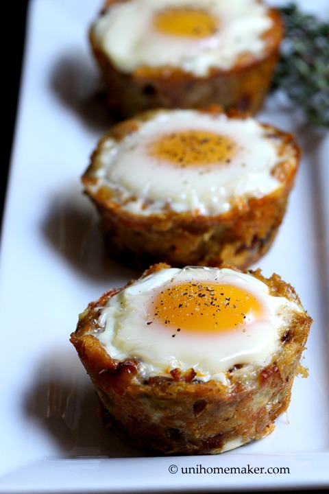 Stuffing and Chorizo Egg Cups