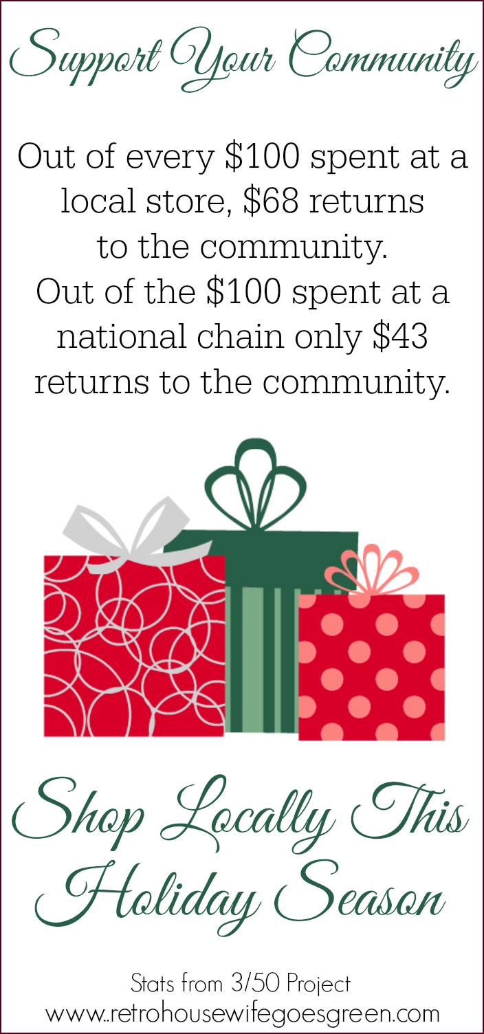 Shop Locally, support your community, buy local, small business saturday