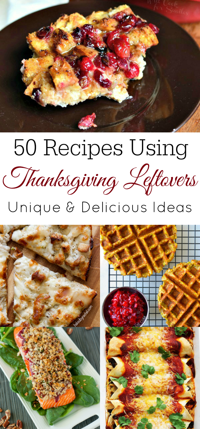 collage of Thanksgiving leftovers recipes