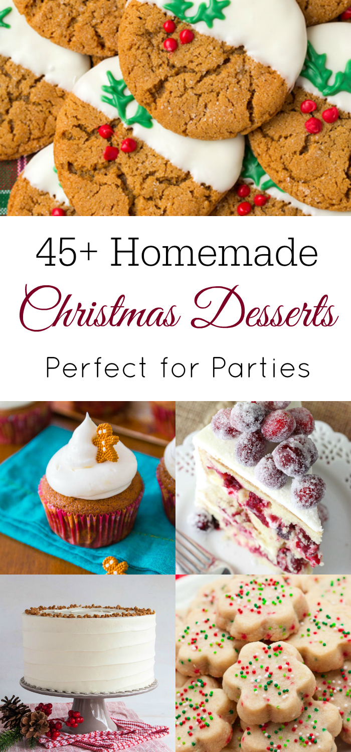 45+ Homemade Christmas Desserts - Retro Housewife Goes Green