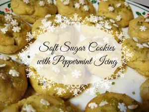 Soft Sugar Cookies with Peppermint Icing