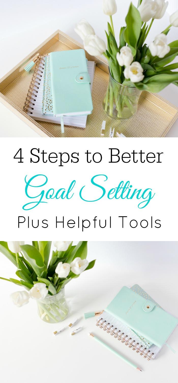 4 Steps for Better Goal Setting #Goals #GoalDigger