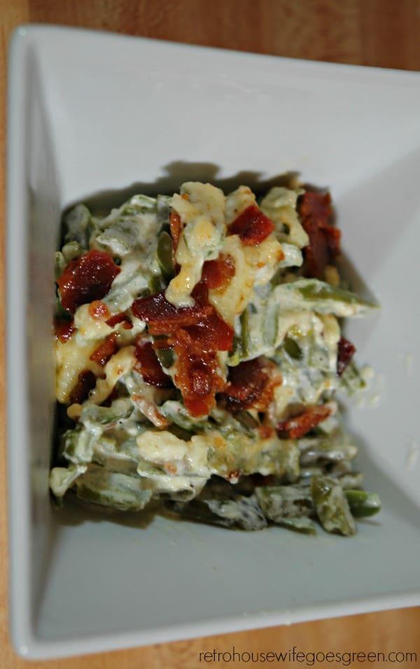 Creamy Parmesan Green Bean Casserole