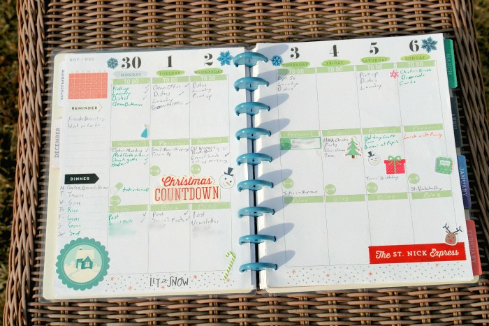 Create 365 Happy Planner open to weekly spread