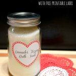Lavender Fizzing Bath Soak with Free Printable Labels
