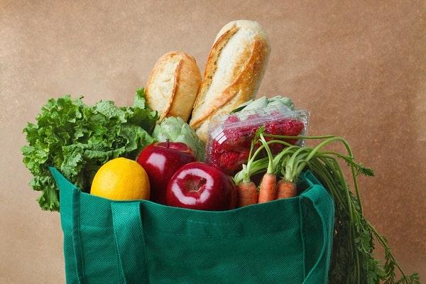reusable bag of groceries