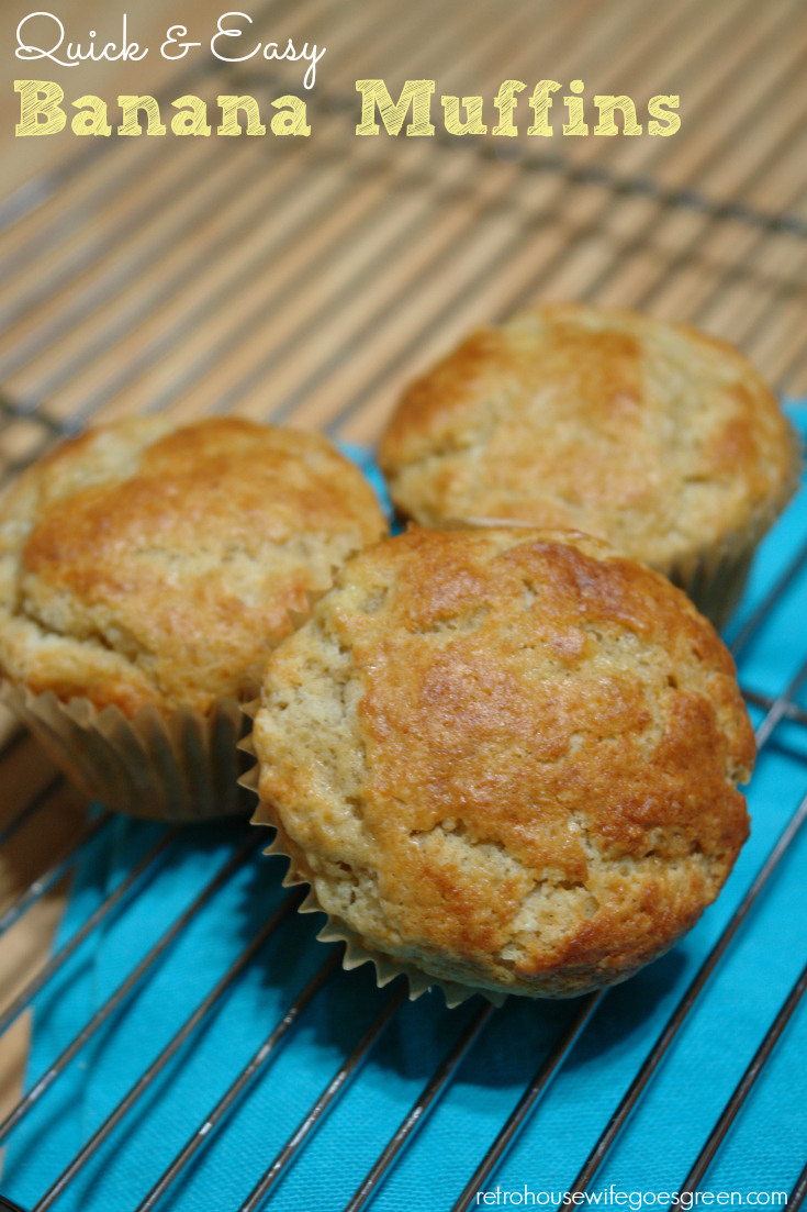 These banana muffins are so delicious and they are easy to make!
