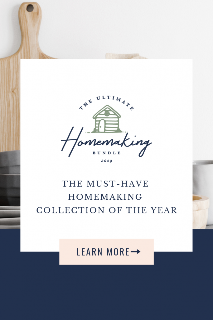 Ultimate Homemaking graphic with learn more text