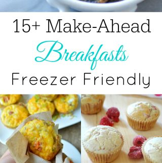 Make-Ahead Breakfast Recipes, Freezer Recipes, Freezer Cooking, Freezer Cooking Breakfast