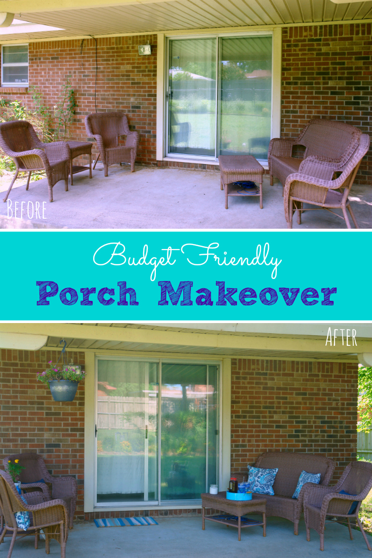 This porch went from boring to welcoming and fun in no time and on a budget! #ad