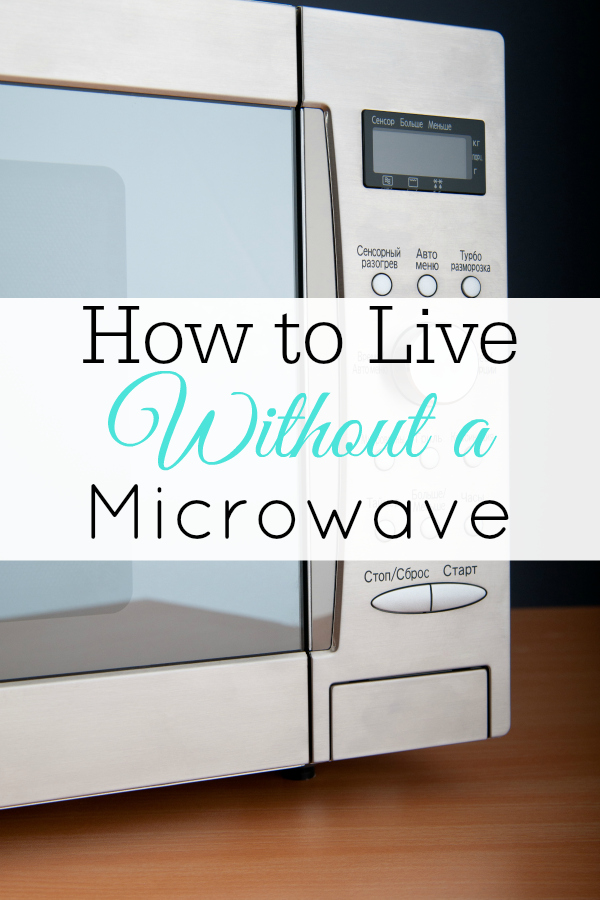microwave on table