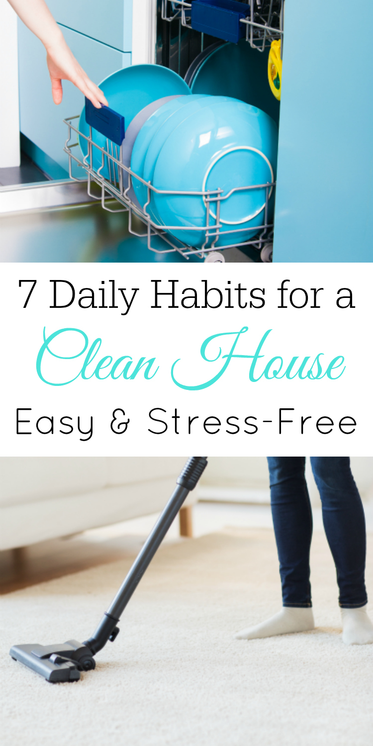 7 Daily Habits for a Clean House, Daily Cleaning Chores, Keep Your House Clean #Cleaning #homemaking