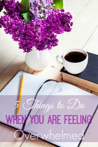 5 Things to Do When You Are Feeling Overwhelmed