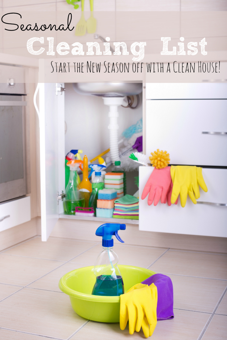 When the seasons change it's the perfect time to tackle some seasonal cleaning projects! This is a great list to get you started.