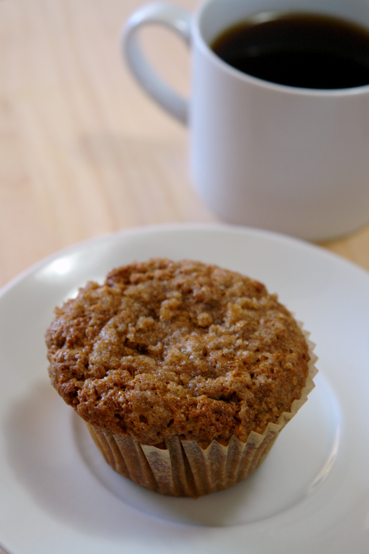 These Coffee Cake Oatmeal Muffins are soft, moist, and have a delicious crumb topping. They are a great breakfast treat or afternoon snack.