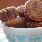 Coffee Cake Oatmeal Muffins