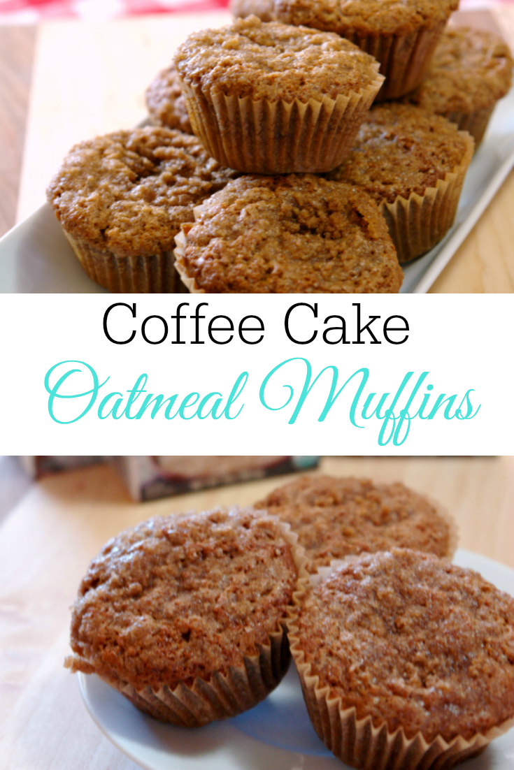 coffee cake oatmeal muffins on plate