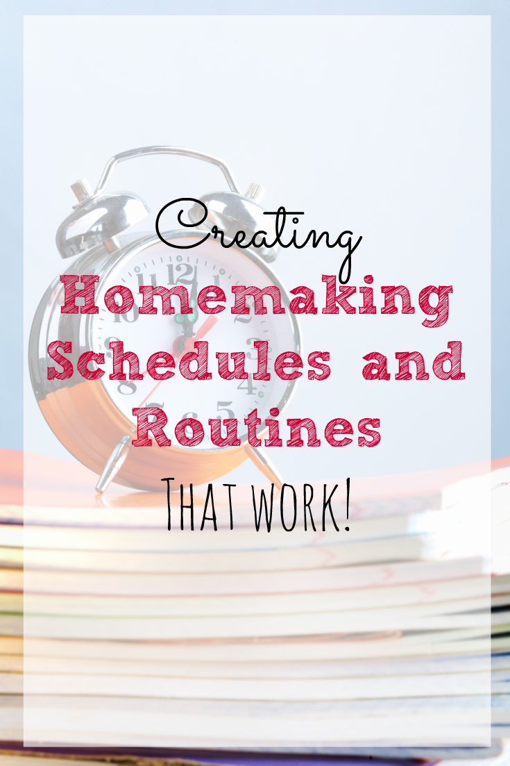 Good schedules and routines are so important when it comes to homemaking! These tips are great for helping you create your own!