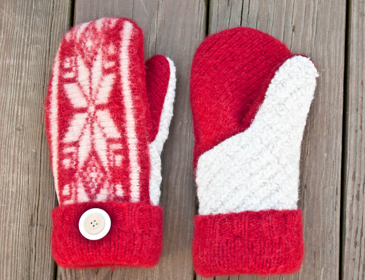 Felted Sweat Mittens