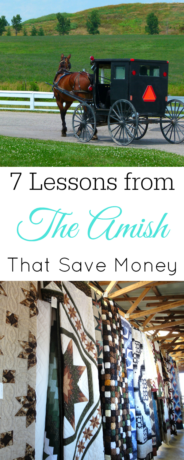 Photos of Amish buggy and Amish quilts