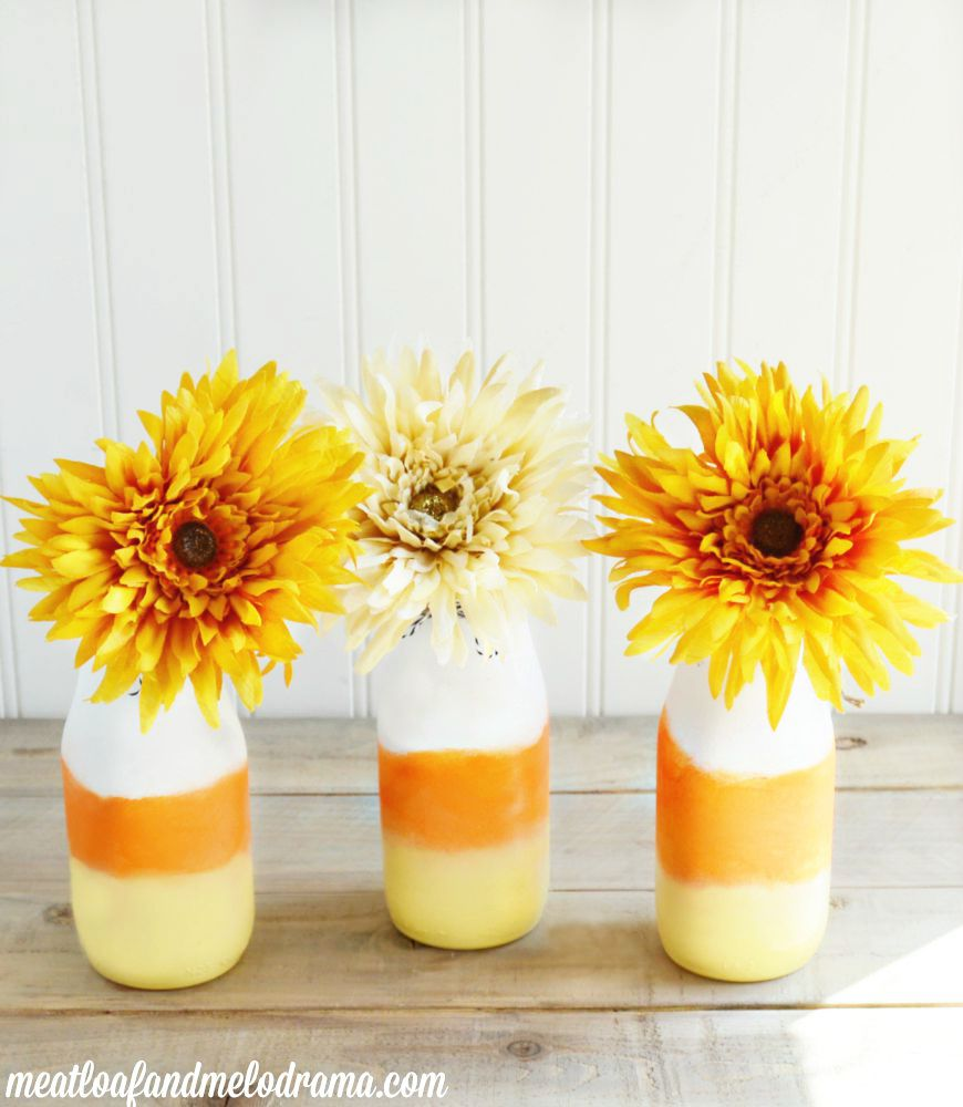 Candy Corn Vases